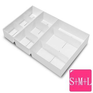 【WallyFun】衣物抽屜收納整理盒3入(S+M+L)