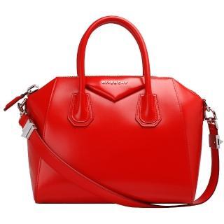 【GIVENCHY】小牛皮手提/肩背波士頓包(13G5102014-600-RED 紅)