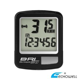 【ECHOWELL】BRI-9W 多功能自行車無線碼錶(黑)