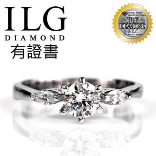【美國ILG鑽飾】頂級八心八箭擬真鑽石戒指-RI001幸福感動款 主鑽50分 經典氣質人氣款(戒指)