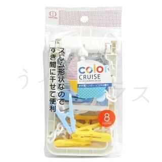 【KOKUBO】長方形小物曬衣架-8夾-3組入