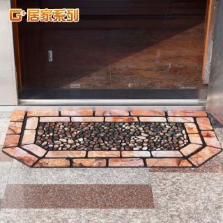 【G+居家】德式方磚橡膠植絨迎賓戶外地墊(特色六角型款)