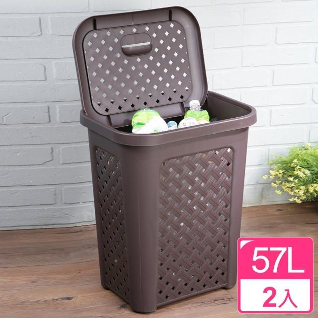 【真心良品】藤蔓風多用途洗衣置物籃(2入)