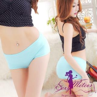 【Sexy Meteor】PA1691全尺碼-中低腰莫代爾輕盈三角內褲(淡淺藍)