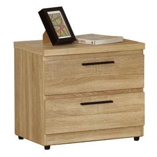 【AT HOME】凱文橡木紋二抽收納櫃/床頭櫃