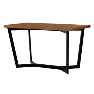 【AT HOME】歐丁4.3尺胡桃黑腳餐桌