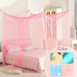 【R.Q.POLO】台灣製 傳統式 超大和室通鋪 防蚊針織蚊帳 四角蚊帳(10尺)