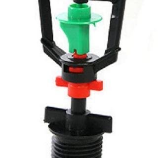 【灑水達人】2分迴轉型360度旋轉噴頭加四分外牙100個一包(綠紅)