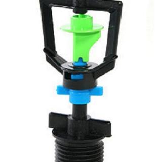 【灑水達人】2分迴轉型360度旋轉噴頭加四分外牙100個一包(綠藍)