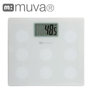 【muva】圓圓樂電子體重計(典雅白)