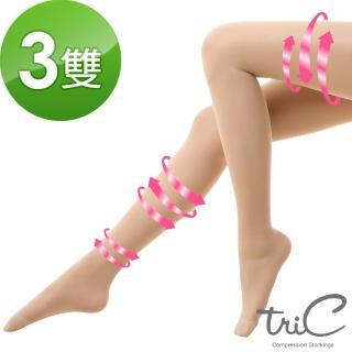 【Tric】台灣製 140Den包趾壓力褲襪 買2送1雙組(壓力襪/顯瘦腿襪/健康襪/彈力襪/絲襪褲襪)