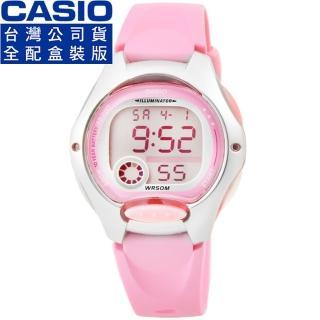 【CASIO】卡西歐鬧鈴多時區兒童電子錶-粉紅 LW-200-4B(原廠全配盒裝)