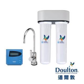 【DOULTON英國道爾敦】陶瓷濾芯顯示型雙管塑鋼櫥下型淨水器(DIP-M12D)