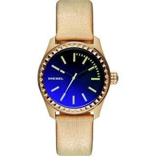 【DIESEL】Gorgeous 華麗派對時尚炫彩腕錶-金(DZ5460)