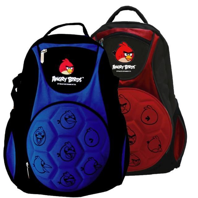 【Angry Birds憤怒鳥】足球造型硬殼書背包(紅/藍_AB_6019)