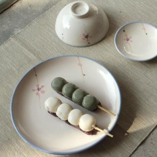 【PEKOE飲食器】櫻花復古台灣碗盤組(中盤1入+圓碗4入)
