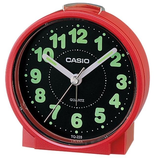 【CASIO 卡西歐】桌上型指針鬧鐘-紅(TQ-228-4DF)比價