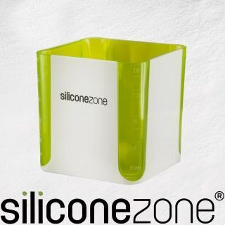 【Siliconezone】520ml施理康耐熱立方造型計量杯&計量匙(綠)