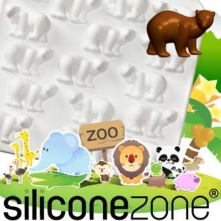 【Siliconezone】施理康ZOO耐熱北極熊巧克力模/冰模(白色)