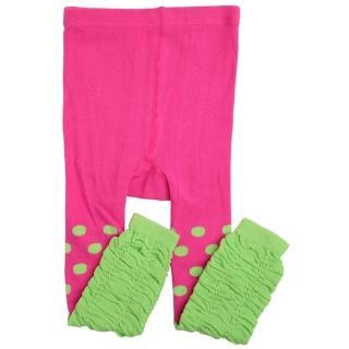 【美國 juDanzy】內搭褲襪_桃紅/綠點點(964)