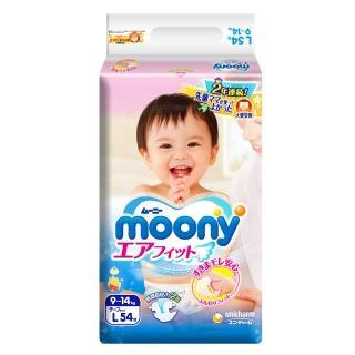 【Moony】日本頂級版紙尿褲(L54片*4包/箱)