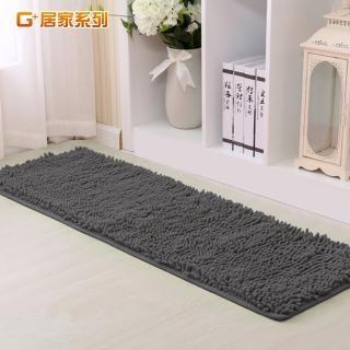 【G+居家】超細纖維長毛吸水止滑地墊/腳踏墊/床邊墊(40x130公分)