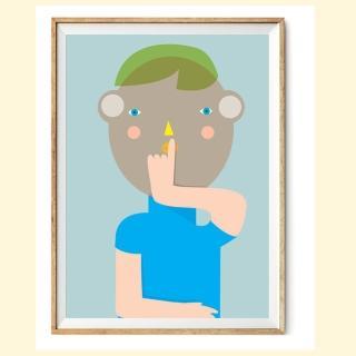 【摩達客】西班牙知名插畫家Judy Kaufmann藝術創作海報掛畫裝飾畫-秘密03(附本人簽名 含木框)