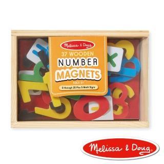 【美國瑪莉莎 Melissa & Doug】數學木質磁鐵貼 - 37 pcs