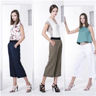 韓國直送-raffauf時尚顯瘦寬管褲