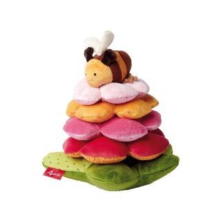 【德國Sigikid】小蜜蜂與花塔-疊疊樂(益智玩具)