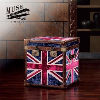 【MUSE】Augustine奧古斯汀復古英倫冰花絨收藏箱(收藏箱)