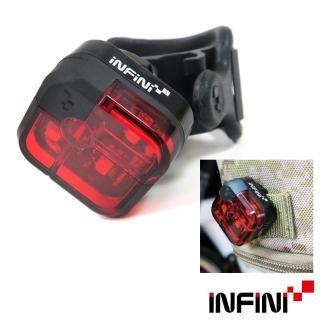 【INFINI】3紅光LED2段式單車後燈/警示燈-黑(尾燈 自行車燈)