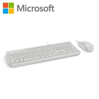 【Microsoft 微軟】WOD600標準滑鼠鍵盤組 600 - 白(APB-00020)