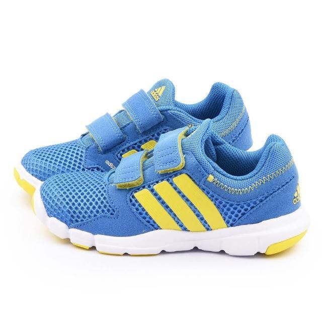 【Adidas】中大童 輕量透氣運動鞋(S78336-藍)