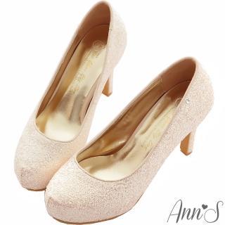 【Ann'S】Bridal幸福婚鞋閃耀單鑽厚底跟鞋(粉)