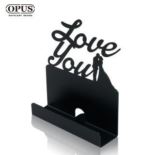 【OPUS東齊金工】歐式鐵藝名片座/高級名片架/會展用品/金屬商務名片盒(CA-do06B 愛情_經典黑)