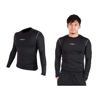 【FIRESTAR】男緊身長袖T恤-慢跑 路跑 運動T恤 黑灰(N3808-13)