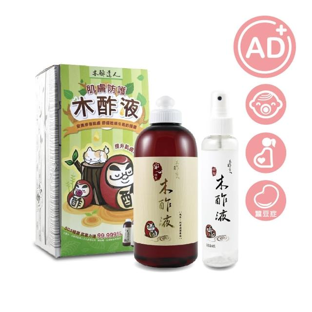 【木酢達人】精餾木酢液原液500ml(贈一噴霧空瓶150ml)/
