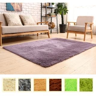 【幸福揚邑】舒壓長毛羊絲絨超軟防滑吸水地毯-共七色(80x160cm)