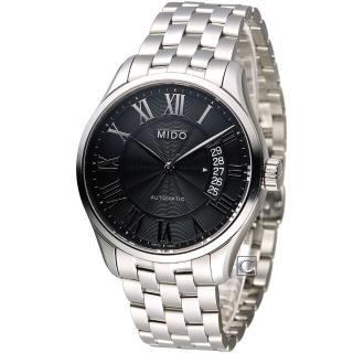 【美度錶 MIDO】Belluna II 80小時動力儲機械腕錶(M0244071105300)