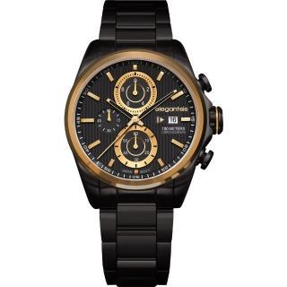 【elegantsis】Fashion 領先風範三眼計時腕錶(ELJT42R-6B04MA)