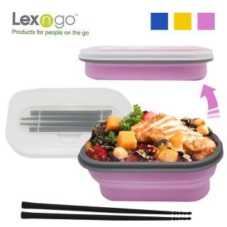 【Lexngo】可折疊餐盒筷子組