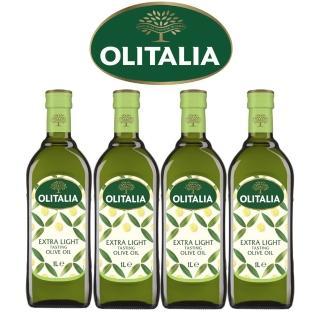 【Olitalia奧利塔】精緻橄欖油1000mlx4 瓶(雙入禮盒組)