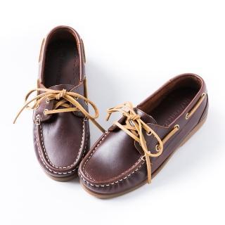 【ALAIN DELON】經典綁帶帆船鞋男款M2513(2色  藍色     咖啡色)
