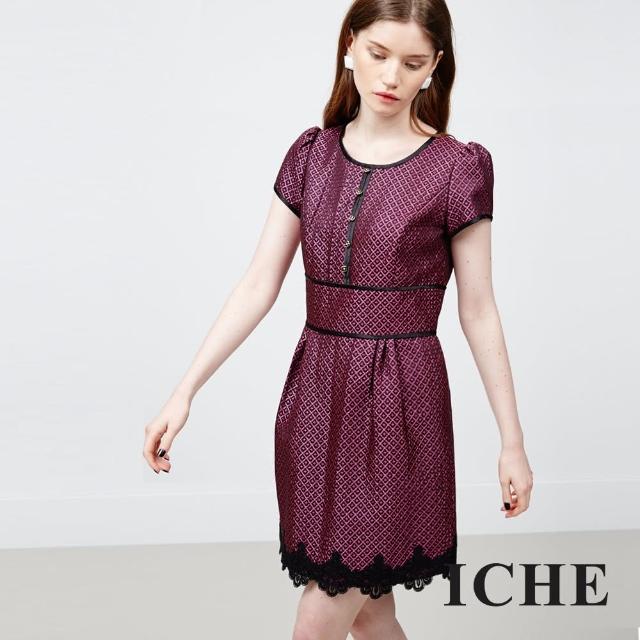 【ICHE 衣哲】立體提花蕾絲洋裝物超所值