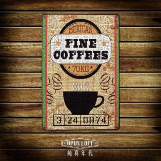 【OPUS LOFT純真年代】20X30仿舊鐵皮畫/創意擺飾/無痕壁貼(TP1017 FINE咖啡)