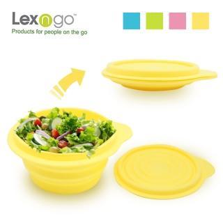 【LEXNFANT】含蓋摺疊碗-大-420ml(餐盒 環保 摺疊 便當 野餐)