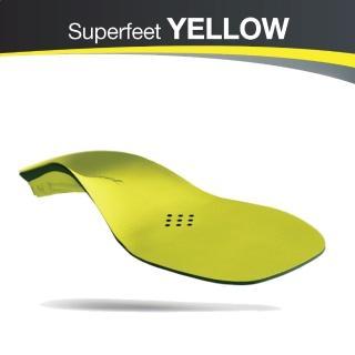 【美國SUPERfeet】健康慢跑登山健行多用途抑菌足弓鞋墊(黃色)