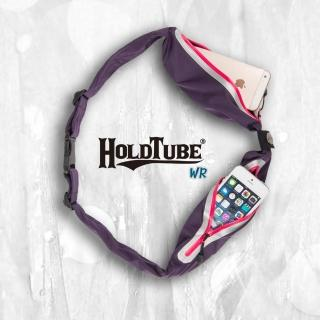 【HOLDTUBE】防潑水雙口袋(紫粉)