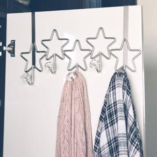 【完美主義】韓系星星造型5勾門後勾/掛勾/衣帽架